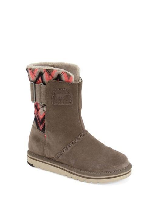 Sorel | Black Newbie Chevron Water-Resistant Boots | Lyst