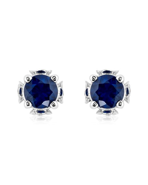 Theo Fennell | Blue Sapphire Chinese Blossom Bud Earrings | Lyst