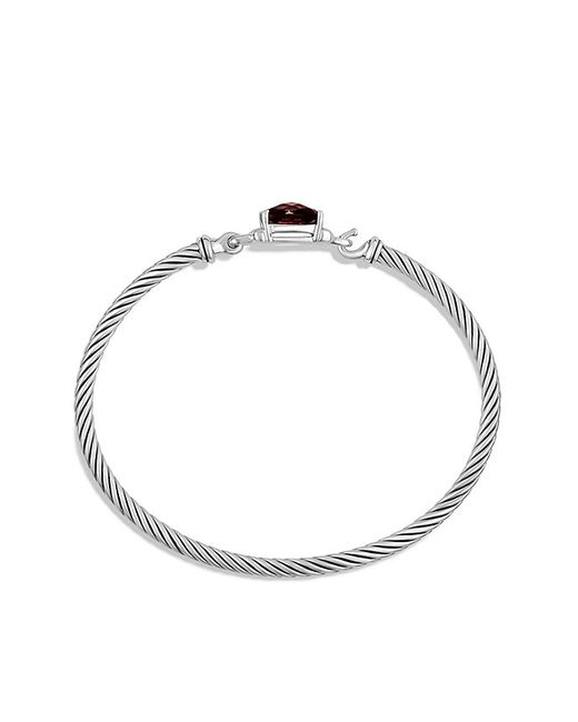 David Yurman | Metallic Petite Wheaton Bracelet With Garnet And Diamonds | Lyst