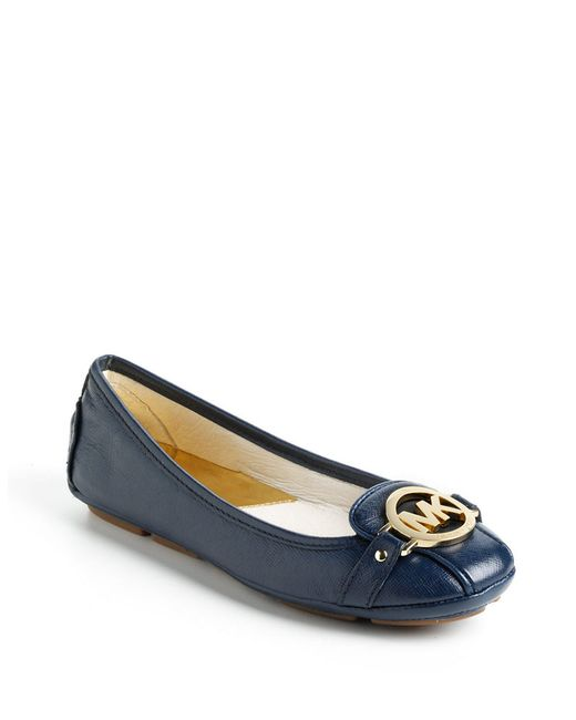 MICHAEL Michael Kors | Blue Fulton Textured Leather Moccasins | Lyst