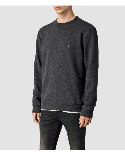 AllSaints | Gray Wilde Crew Sweatshirt Usa Usa for Men | Lyst