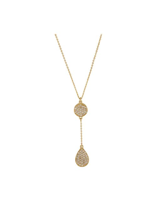 Melinda Maria | Metallic Clarence Pave Necklace | Lyst