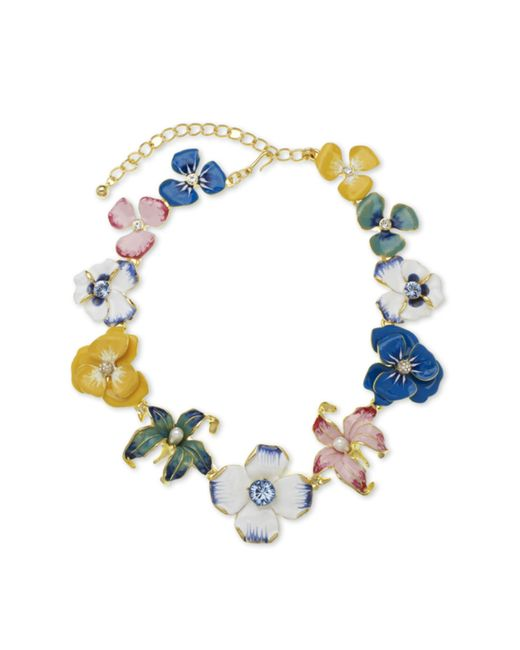 Kenneth Jay Lane | Multicolor Multi Color Flower Necklace | Lyst