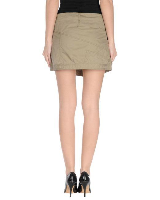 armani mini skirt in green lyst