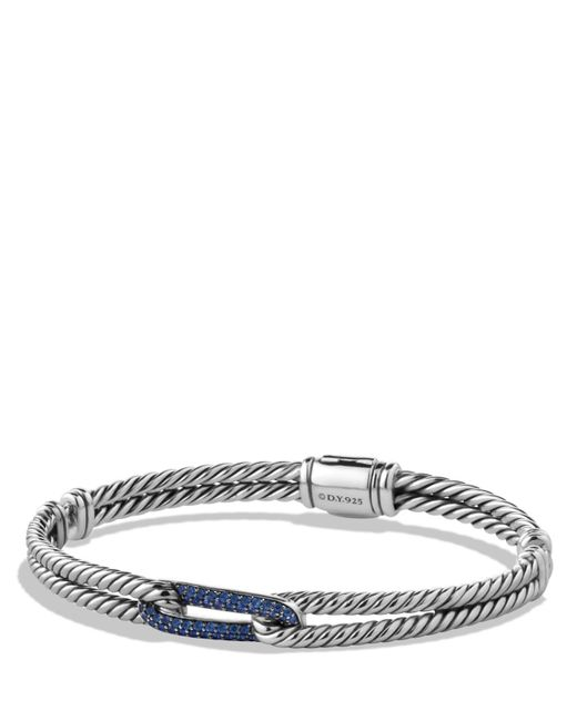 David Yurman | Metallic Petite Pavé Labyrinth Mini Loop Bracelet With Blue Sapphires | Lyst