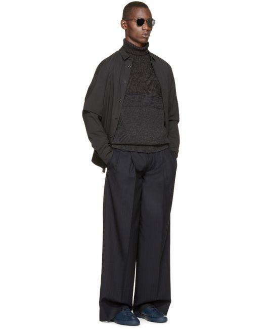 Juun.J | Gray Grey Ribbed Wool Turtleneck for Men | Lyst