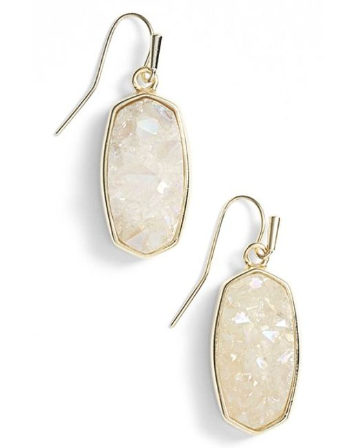 Kendra Scott | Metallic 'danay' Drusy Drop Earrings | Lyst