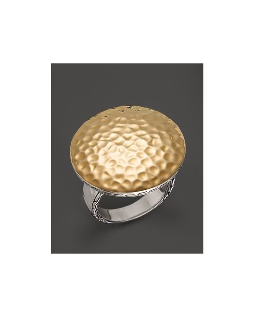 John Hardy | Metallic Sterling Silver & 18k Gold Palu Round Ring | Lyst
