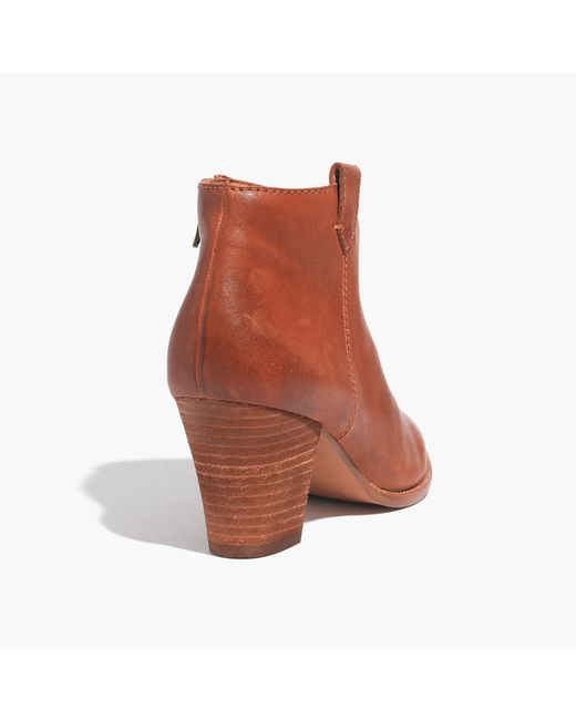 Madewell | Orange The Billie Boot | Lyst