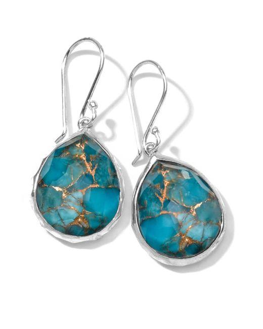 Ippolita   Metallic Wonderland Mini Turquoise Teardrop Earrings   Lyst