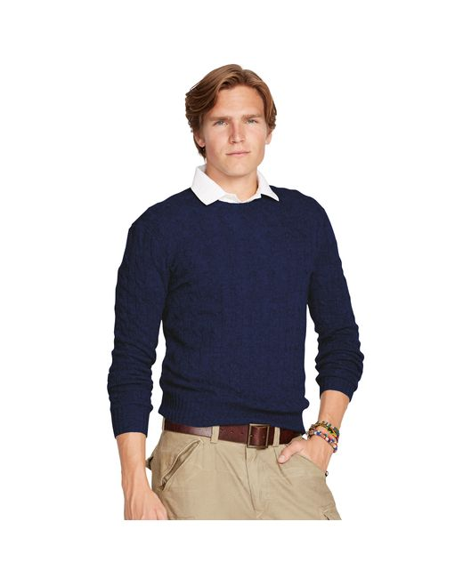 Polo Ralph Lauren | Blue Cable-knit Cashmere Sweater for Men | Lyst