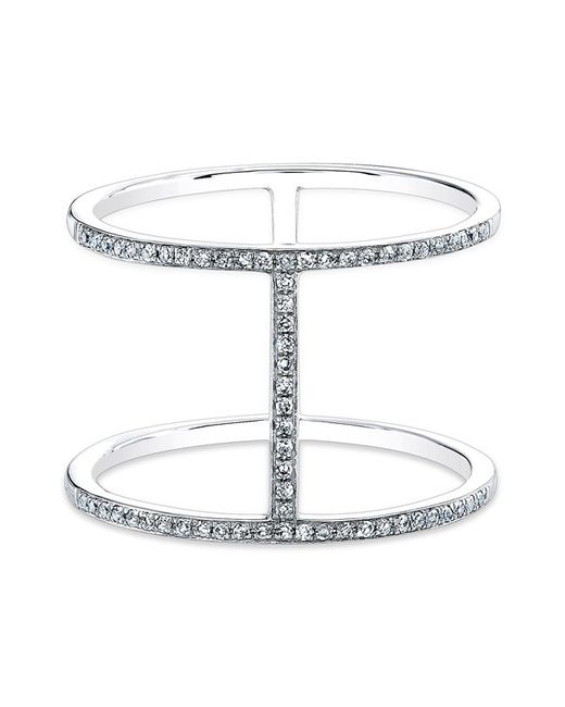 Anne Sisteron - 14kt White Gold Diamond H Trois Ring - Lyst