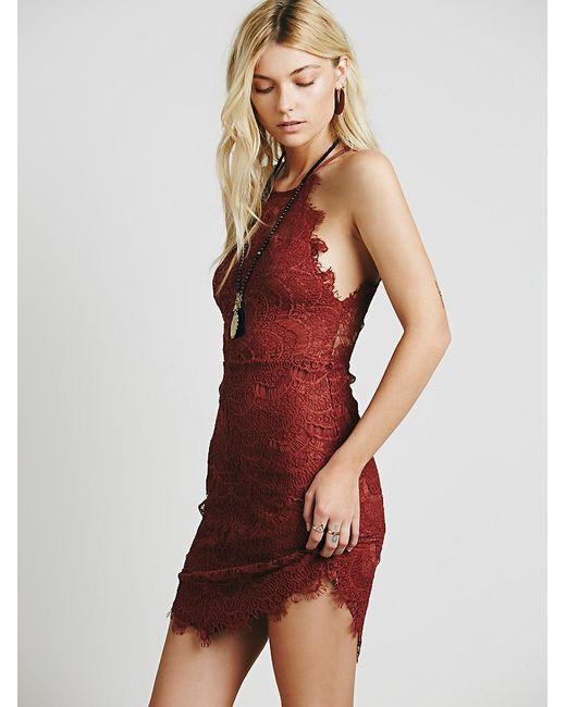 Free People | White She's Got It Lace Slip Dress | Lyst