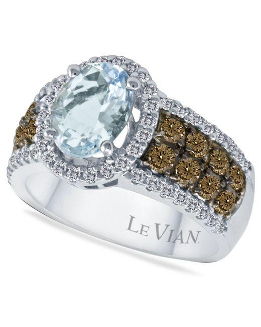 Le Vian   Blue Aquamarine (1-3/8 Ct. T.w.) And Diamond (3/4 Ct. T.w.) In 14k White Gold   Lyst