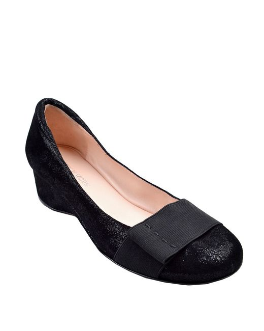 Taryn Rose   Black Mary Leather Flats   Lyst