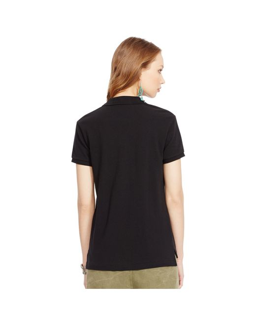 Polo Ralph Lauren | Black Classic Fit Mesh Polo Shirt | Lyst