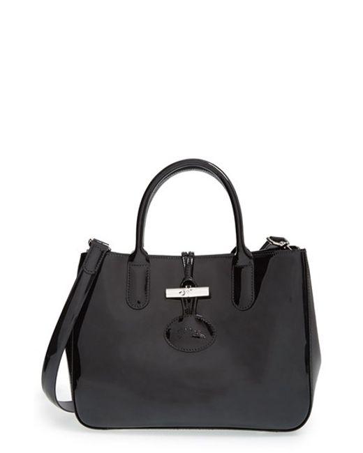 Longchamp | Gray 'small Roseau Box' Tote | Lyst