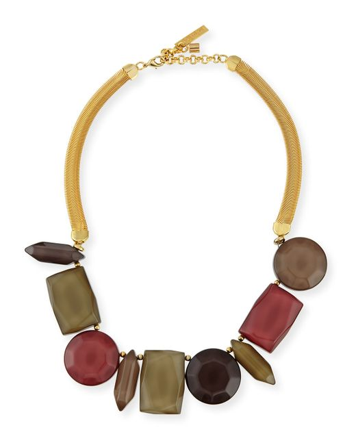 Lafayette 148 New York   Metallic Mixed-station Collar Necklace   Lyst