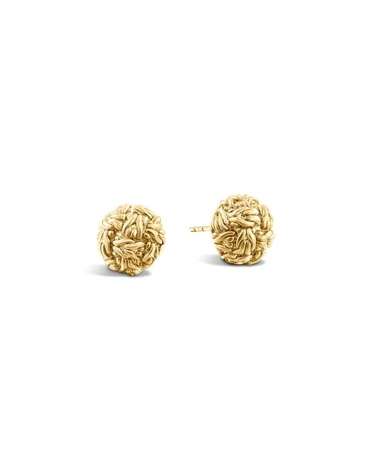 John Hardy | Metallic Classic Chain 18k Yellow Gold Stud Earrings | Lyst
