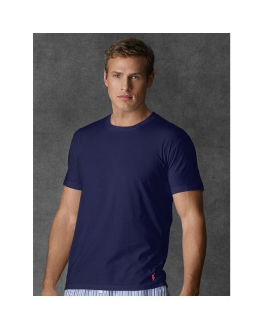 Polo Ralph Lauren | Blue Supreme Comfort Crewneck Tee for Men | Lyst