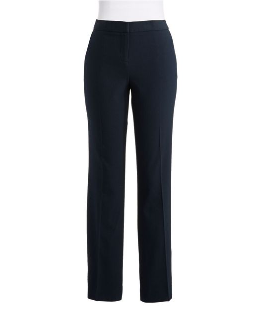 Anne Klein | Blue Straight Legged Pants | Lyst
