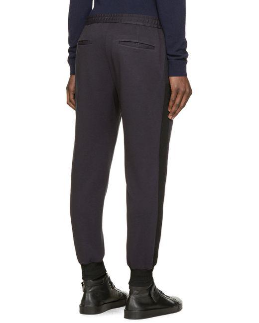 Juun.J | Blue Navy & Black Lounge Pants for Men | Lyst