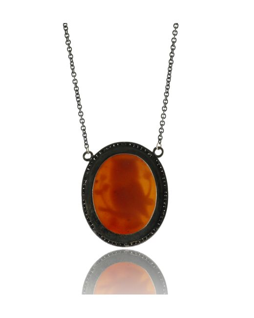 Amedeo | Orange Amedeo Owl Pendant | Lyst