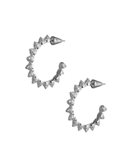 Eddie Borgo | Metallic Pave Mini Cone Hoop Earrings | Lyst