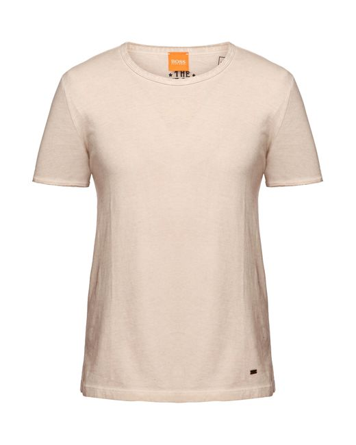 BOSS Orange | Natural T-shirt 'tour' With A Round Neckline for Men | Lyst
