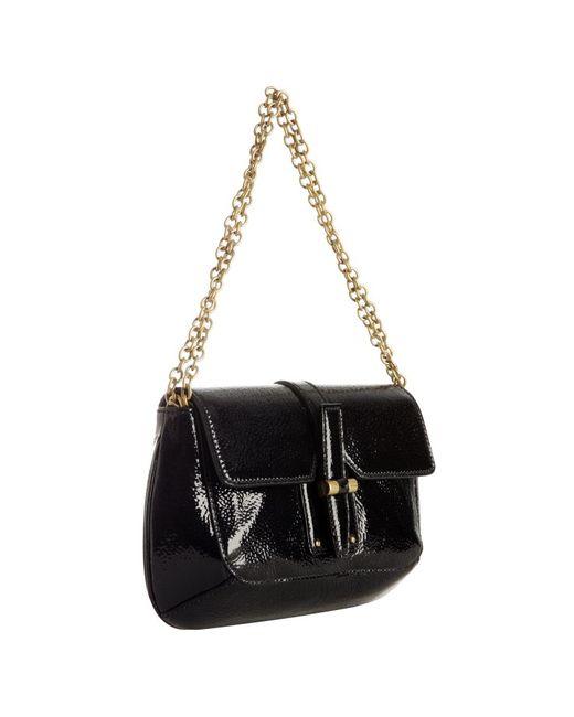 Saint Laurent   Black Patent Emma Medium Flap Bag   Lyst