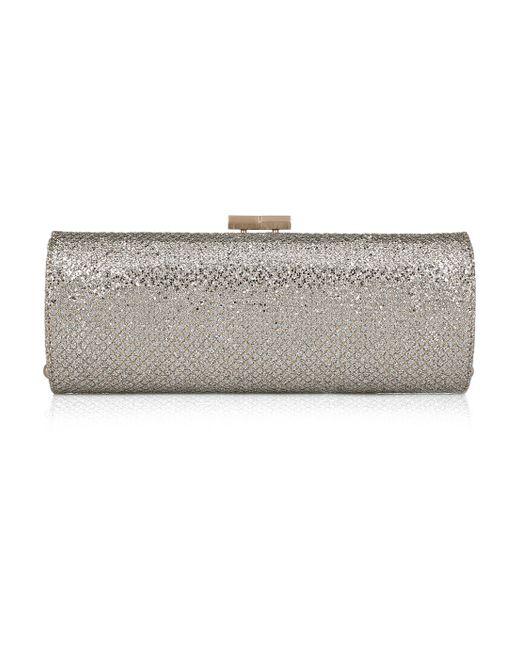Jimmy Choo   Metallic Cate Swarovski Crystal-embellished Suede Clutch   Lyst