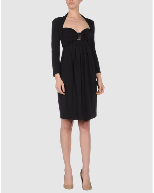 Plein Sud Jeanius | Black Short Dress | Lyst
