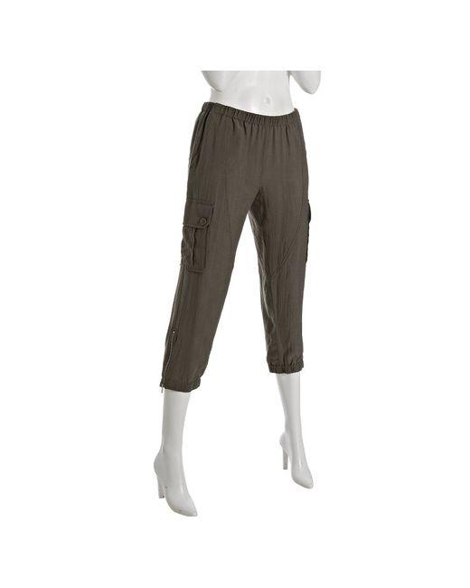 BCBGMAXAZRIA | Green Dusty Olive Cropped Cargo Pants | Lyst