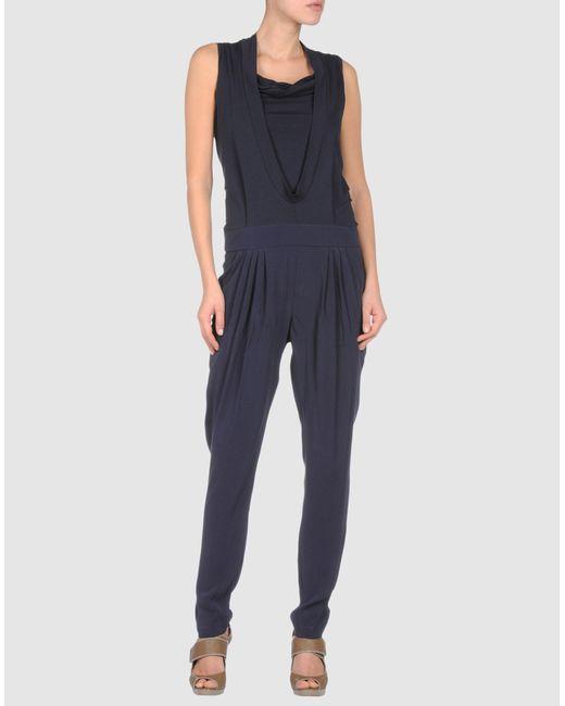 Brunello Cucinelli | Black Windowpane Long-sleeve Jumpsuit | Lyst