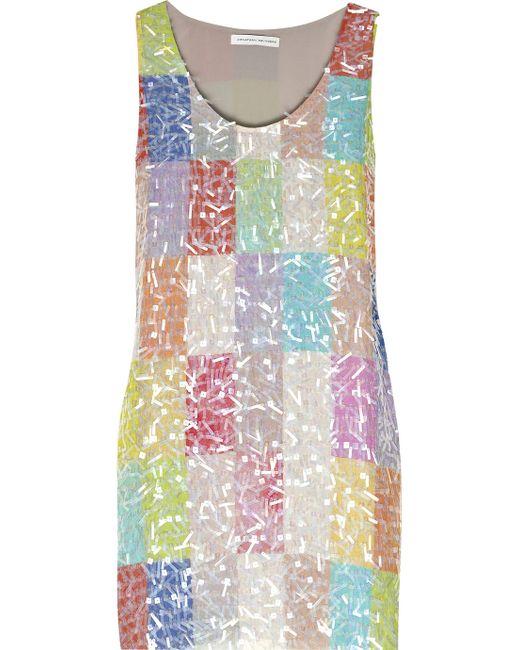 Jonathan Saunders | Multicolor Chilton Embellished Silk Mini Dress | Lyst