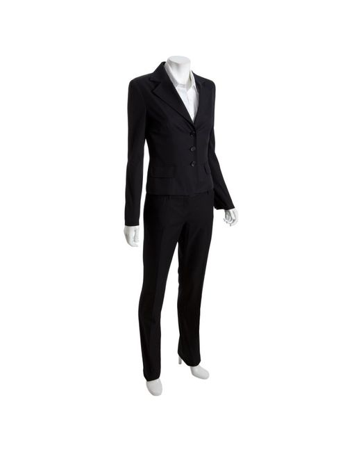 Dolce & Gabbana | Black Wool 2-button Pants Suit with Wide Leg Pants | Lyst