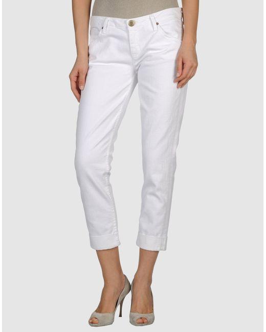 Hudson Jeans | White Denim Capris | Lyst