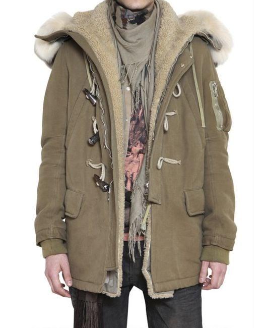 Balmain   Brown Racoon Fur Parka for Men   Lyst