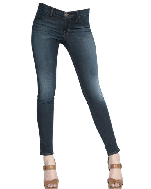 J Brand | Blue Vertical Striped Jeans | Lyst
