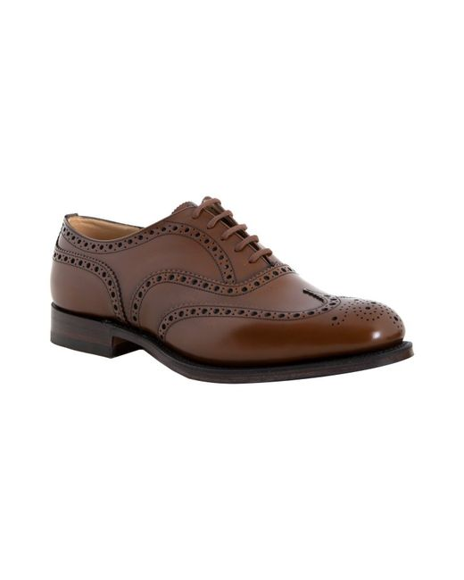 Church's | Brown Leather Burwood Wingtip Oxfords for Men | Lyst