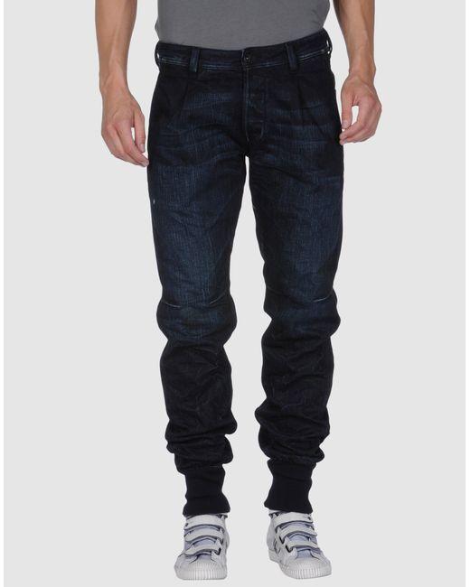 DIESEL   Blue Denim Trousers for Men   Lyst