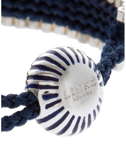 Links of London   Blue Black And Copper Friendship Bracelet   Lyst