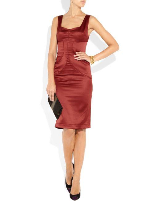 Just Cavalli | Purple Satin Dress | Lyst