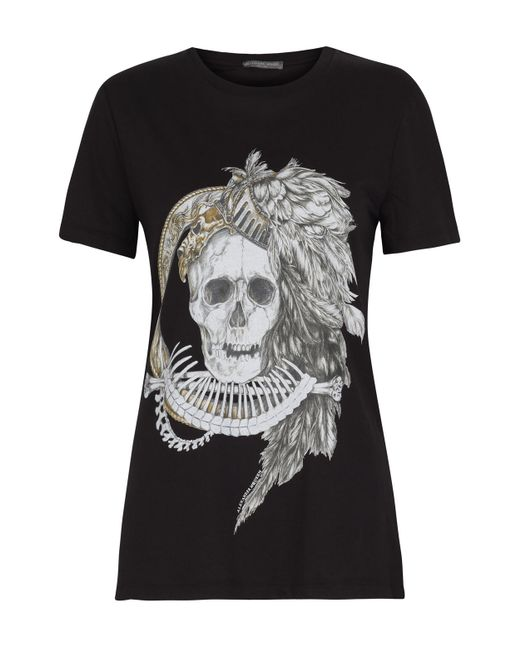 Alexander McQueen | Black Skull T-shirt | Lyst