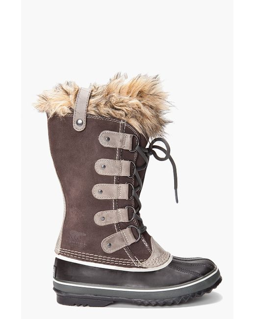 Sorel | Brown Lace Up Cold Weather Boots Joan Of Arctic | Lyst