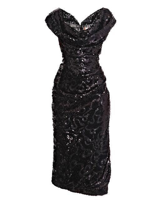 Vivienne Westwood Gold Label | Black Sequined Cocotte Dress | Lyst