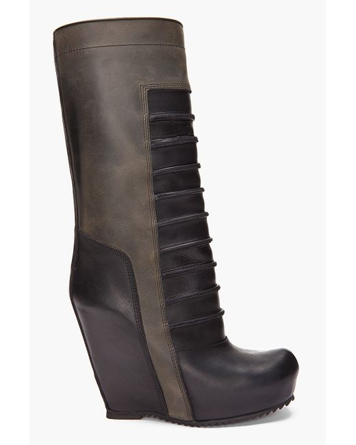 Rick Owens   Green Ankle Boots   Lyst