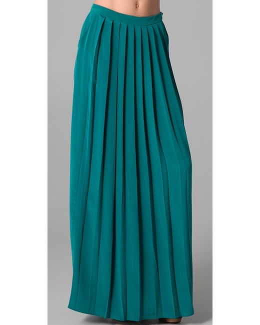 Tibi | Green Pleat Skirt | Lyst