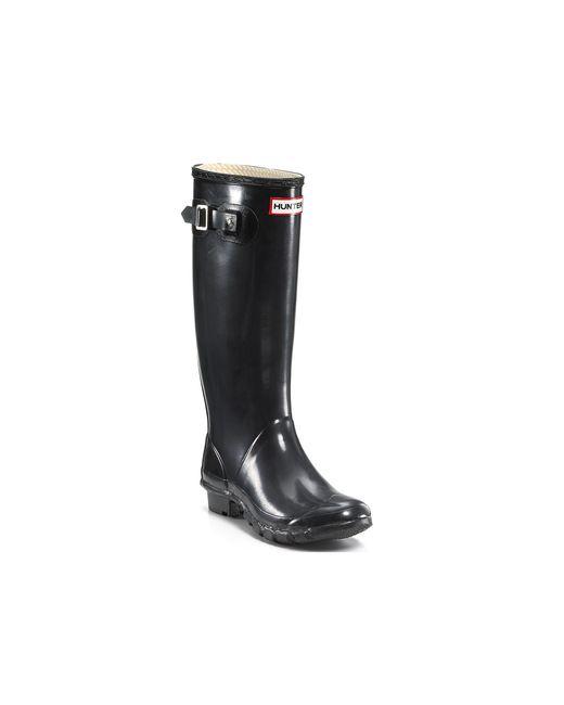 Hunter | Black Original Gloss-finish Rain Boots | Lyst