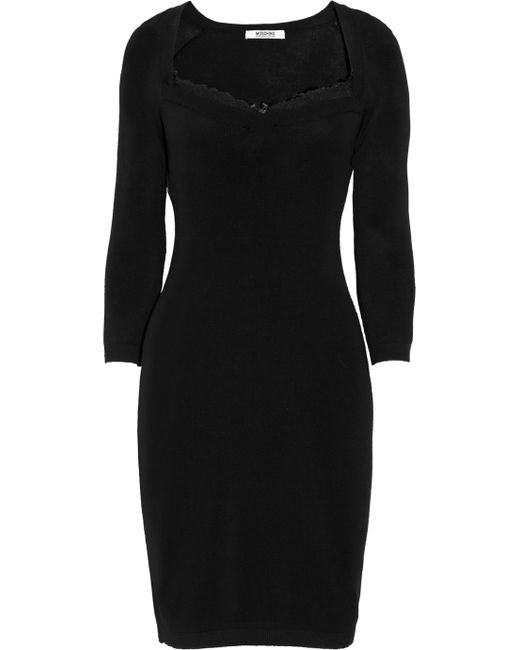 Boutique Moschino | Black Knee-length Dress | Lyst